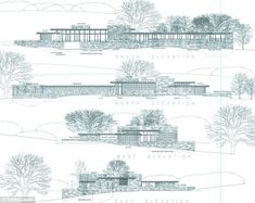 Plans: These drawings show the buildings from different elevations and from alternate directions