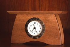 Wooden Desk Clock Mantel Clock Walnut Desk Clock by GadgetMania