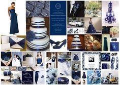 Navy Blue Wedding  McEvents Planners cakepins.com