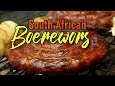 South African Boerewors – 2 Guys & A Cooler Printable Recipe, Kielbasa, Sausage, African, Celebrities, Recipes, Guys, Food, Youtube