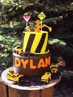Digger Construction Birthday Cake!
