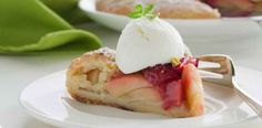 Rhubarb is in season in spring, but this recipe is popular year-round.See the recipe for Rhubarb Cak... - Provided by W Network