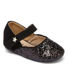 Look at this #zulilyfind! Black Glitter Dolly Flat #zulilyfinds