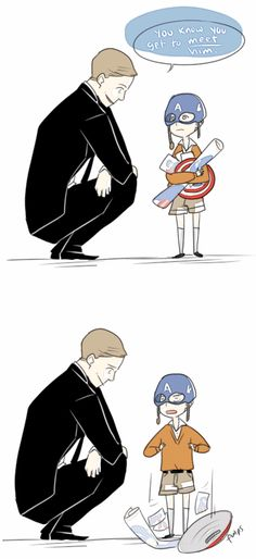 Agent Coulson meeting his younger self ❤❤❤❤