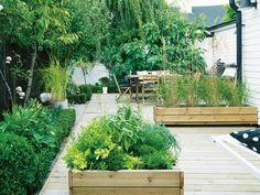 Herb boxes // Purple Area book: Under bar himmel Art Vert, Raised Planter, Back Patio, Small Patio, Outdoor Living, Outdoor Decor, Garden Styles, Garden Inspiration, Beautiful Gardens