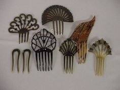 Assortment of Vintage Hair Combs