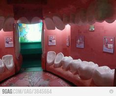 A Dentist's Office - awesome! I would go just to sit in a tooth