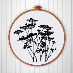 Meadow Flower Silhouette cross stitch pattern by ThuHaDesign