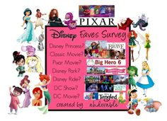 """DISNEY SURVEY"" by allisjess ❤ liked on Polyvore featuring Disney and Merida"