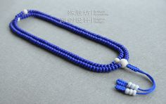 Blue colored glaze Buddhism rosary 216 beads by Chanspace on Etsy, $70.00