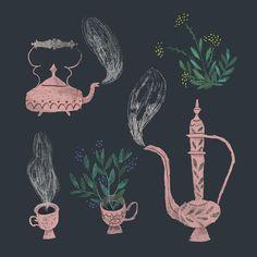 A weird kind of tea...🌿 Day 29 of #100daysofmagic . . . . #illustration #illustratorsofinstagram #tea #india #englishtea #magic…