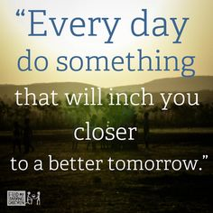 Entrepreneurial Momentum which leads you to successes is built by doing 1 thing every day that will get you closer. Consistency is KEY!