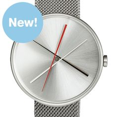 Crossover (stainless steel mesh) watch by Projects. Available at Dezeen Watch Store: www.dezeenwatchstore.com