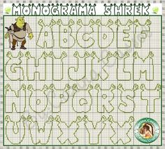 Mokari Ruge I think I'm going to have to make something for Nick with this. Kind of weird though. Cross Stitch Alphabet Patterns, Embroidery Alphabet, Cross Stitch Letters, Letter Patterns, Beaded Cross Stitch, Cross Stitch Baby, Crochet Cross, Cross Stitch Charts, Cross Stitch Designs