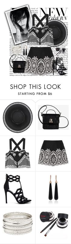 """""""New Modern in Black and White"""" by fernshadowstudio-com ❤ liked on Polyvore featuring MM6 Maison Margiela, Exclusive for Intermix, Kendall + Kylie, SUSAN FOSTER, Charlotte Russe and modern"""