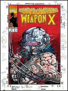 The original BWS painted color guide for the cover of Marvel Comics Presents which features chapter 7 of Weapon X Source: Barry Windsor Smith official website. Comic Book Artists, Comic Book Characters, Comic Artist, Comic Books Art, Wolverine Comics, Marvel Comics, Art Spiegelman, Conan The Barbarian, Marvel Funny