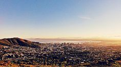 The city bowl Cape Town, Grand Canyon, Mountains, City, Nature, Travel, Viajes, Naturaleza, Destinations