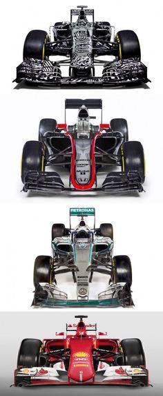 2015 F1 Cars Comparo