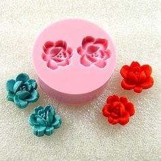 Rose Buds Cabochon Flexible Mini Mold/Mould 12mm/10mm by MoldMuse, $4.85