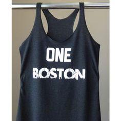 One Boston Workout Tank Top Fashion Tank Running Tank Boston Strong... ($22) ❤ liked on Polyvore