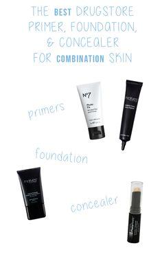 The best drugstore primer, foundation, and concealer for combination skin