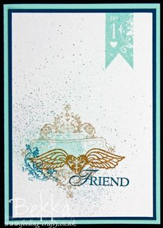 Friendship Card made using the Stampin' Up! Stamp Set Affection Collection by Stampin' Up! Demonstrator Bekka Prideaux - check her blog for lots of cute projects