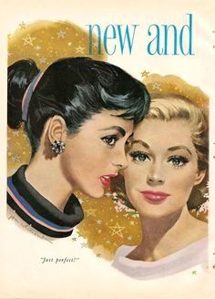 "Jon Whitcomb Illustrator | just perfect!""1950s jon whitcomb illustration for tampax."