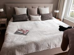 Masterbed Room Italian Style nude and beige Colours #schramm#bed#designer#bedroom Shooting in my House