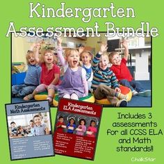 Let me help make your life a little easier!! I have bundled my 2 best selling products into one cost effective bundle. This bundle includes at least 4 assessments for ALL kindergarten ELA and math Common Core standards including the sub-heading standards.