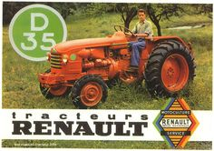 carte postale Tracteur Renault D35