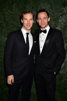 Benedict Cumberbatch and Tom Hiddleston at the London Evening Standard Theatre Awards 11/30/14