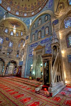 Inside the Sokollu Mehmet Pasha Mosque in Istanbul, Turkey (by Kuzeytac) Islamic Architecture, Futuristic Architecture, Amazing Architecture, Art And Architecture, Islamic World, Islamic Art, Beautiful Mosques, Beautiful Places, Ottoman Empire