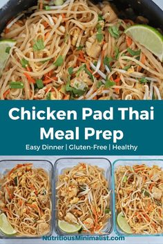 Make this favorite Thai dish at home with rice noodles, stir-frie - Thai Recipes, Real Food Recipes, Chicken Recipes, Dinner Recipes, Healthy Recipes, Recipe Chicken, Noodle Recipes, Asian Recipes, Delicious Recipes