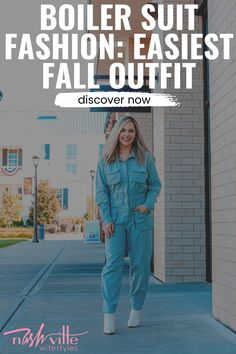 Click to see this fall boiler suit on Nashville Wifestyles! Super cute denim boiler suit outfit casual. Beautiful fall outfits women casual jeans. Cute boiler suit outfit fall and boiler suit fashion outfit. Best boiler suit street style denim jumpsuit and boiler suit woman vintage. Fashionable boiler suit street style outfit and boiler suit woman jumpsuits. Nice boiler suit woman overalls and fall outfits women casual street styles. #boilersuit #fall #fashion Simple Fall Outfits, Fall Fashion Outfits, Suit Fashion, Denim Fashion, Casual Outfits, Fashion Trends, Boiler Suit, Overalls Women, Denim Jumpsuit