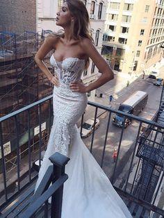 Pallas couture : Robe de mariée sexy coupe sirène