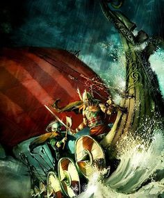 Vikings cruising the ship