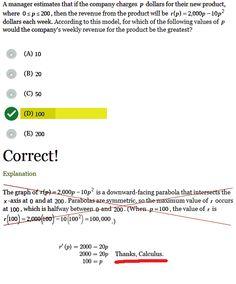 Thanks, Calculus!