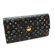 Louis Vuitton Portefeuille Sarah Monogram Multicolore Wallets Black Canvas M60444