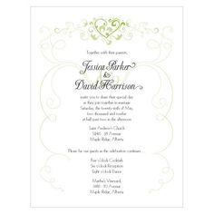 Heart Filigree Invitation - Bridal Everything #weddinginvitation