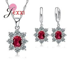 PATICO Charm Jewelry Set For Wedding Accessories AAA Cubic Zircon Crystal Jewellery Sets For Women Pendant Necklace Earrings Set