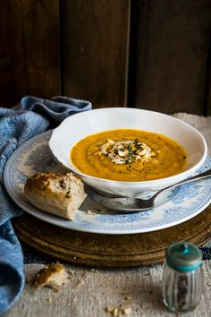 Roasted Carrot and Tahini Soup