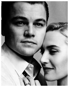 Kate Winslet & Leonardo DiCaprio this is the most precious thing i've ever seen i just love them :)