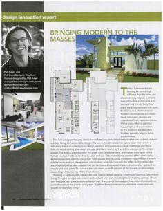 Modern Home Plans by WAYCOOL HOMES featured in Professional Builder, June 2013, designed by Phil Kean.  #philkean  #modernhousedesigns
