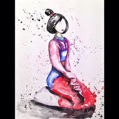 Mulan #triciapaints #mulan #disneyart #disney #officialdisneyart