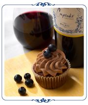 Chocolate Blueberry Cupcakes Pairs Perfectly with Cupcake Vineyards Malbec