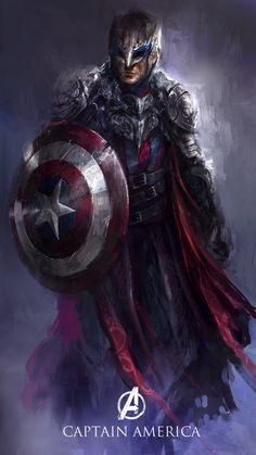 Captain America as the Paladin.
