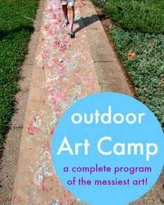 Outdoor art camp ideas - summer bucket list activities - how to run an art camp