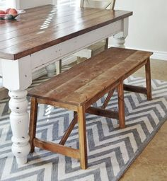 How to make a rustic double xbench by ana white.