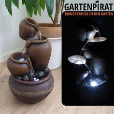 Nativ Zimmerbrunnen mit LED-Beleuchtung Buddha Figur Indoor-Brunnen aus Polyresin mit Pumpe und Beleuchtung