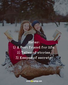 Do you want to share your love towards your sister? If yes, these are the i love you cute sister quotes and sayings will make her special and happy. Caption For Sisters Love, Birthday Caption For Sister, One Word Caption, I Love My Brother, I Love My Sisters, Cute Sister Quotes, Brother Quotes, Girl Quotes, Sisterhood Quotes